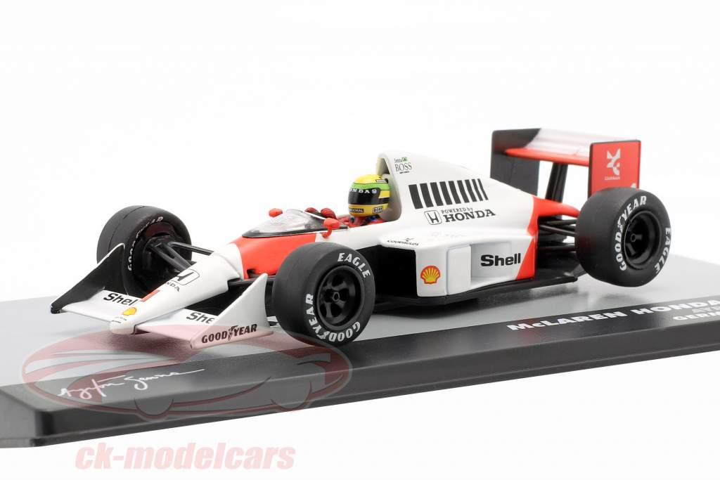 A. Senna McLaren MP4/5 #1 Vencedor Alemanha GP F1 1989 1:43 Altaya