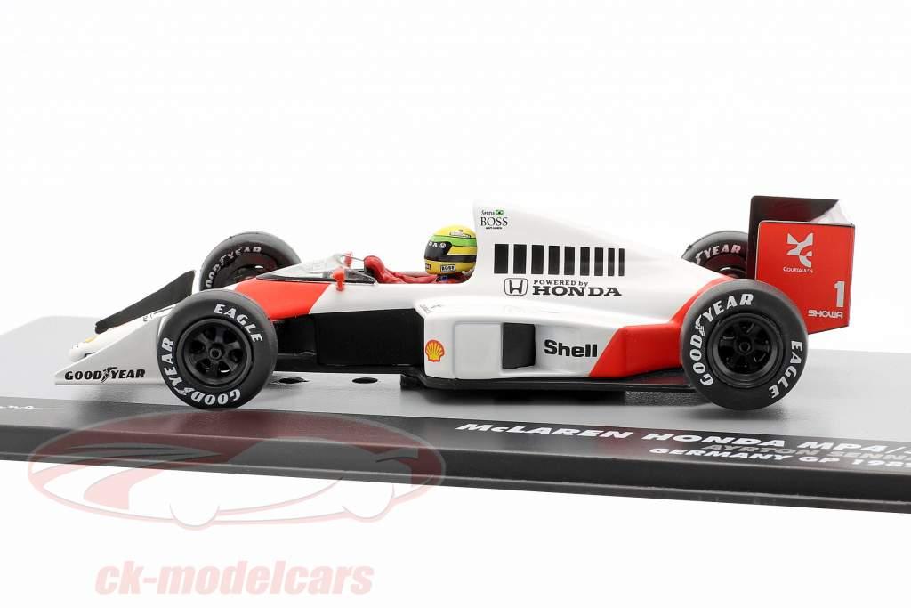 A. Senna McLaren MP4/5 #1 Winnaar Duitsland GP F1 1989 1:43 Altaya
