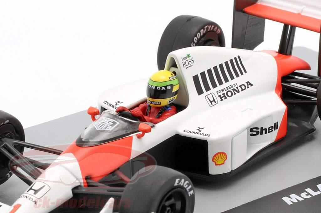 A. Senna McLaren MP4/5 #1 Vinder Tyskland GP F1 1989 1:43 Altaya