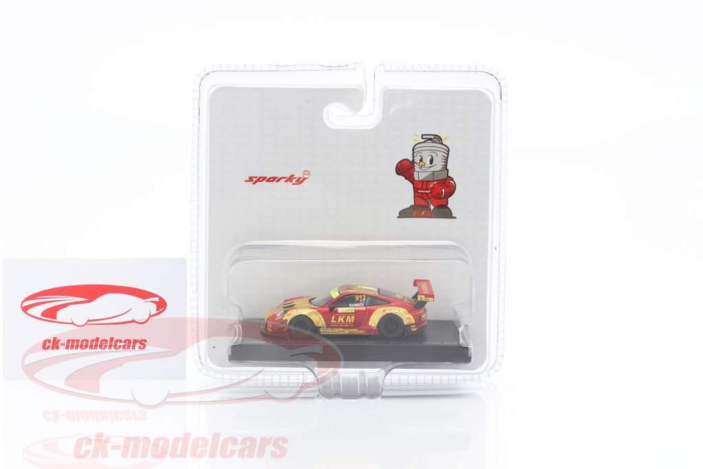 Porsche 911 GT3 R #912 4 ° FIA GT World Cup Macau 2018 Earl Bamber 1:64 Spark