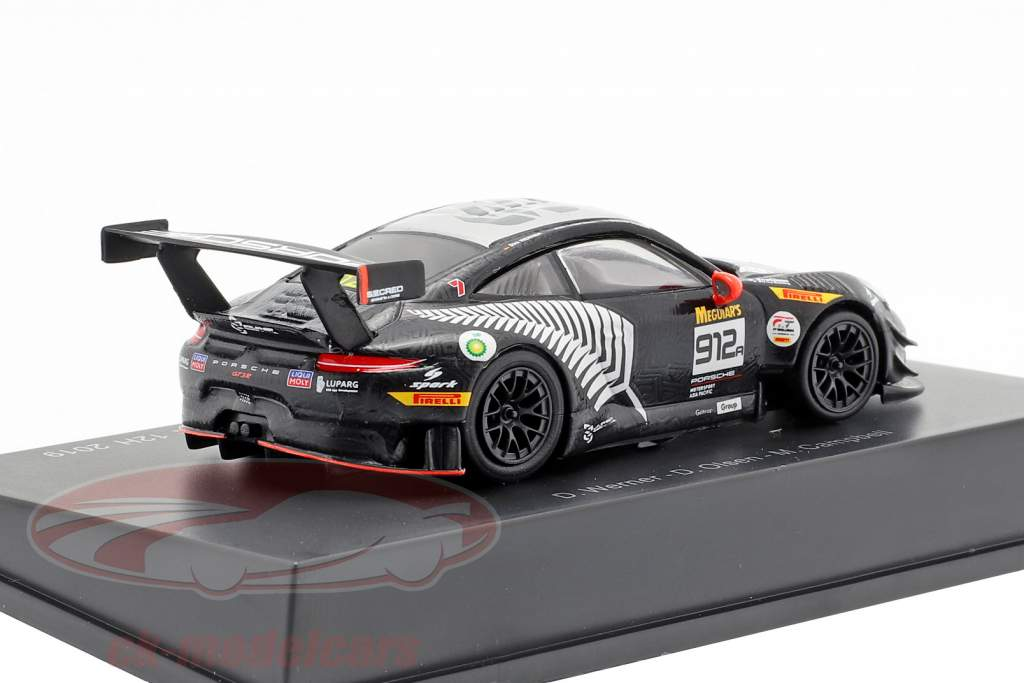 Porsche 911 GT3 R #912 vincitore 12h Bathurst 2019 Campbell, Olsen, Werner 1:64 Spark