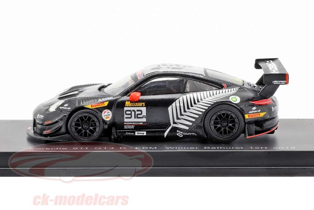 Porsche 911 GT3 R #912 Vencedor 12h Bathurst 2019 Campbell, Olsen, Werner 1:64 Spark