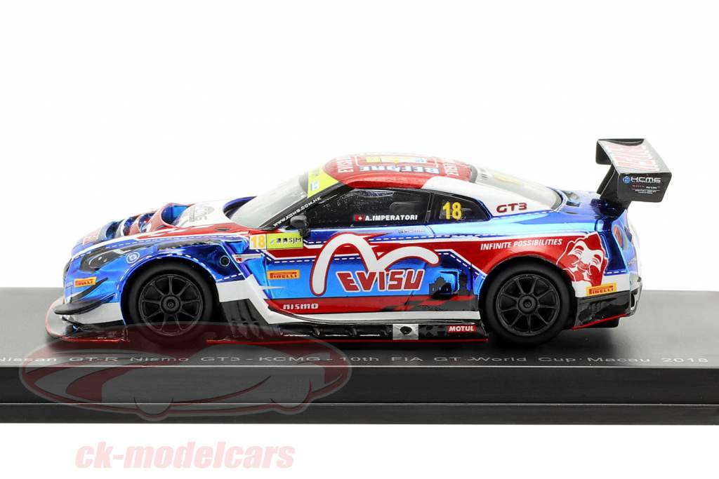 Nissan GT-R Nismo GT3 #18 FIA GT World Cup Macau 2018 A. Imperatori 1:64 Spark