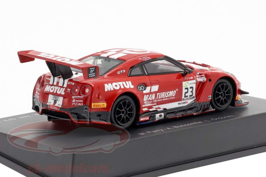 Nissan GT-R Nismo GT3 #23 7mo 24h Spa 2018 Buncombe, Ordonez, Parry 1:64 Spark