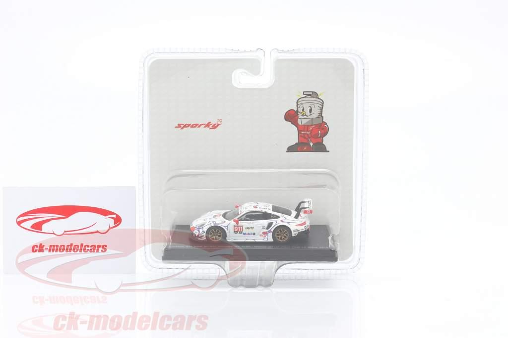 Porsche 911 RSR #911 Clase Ganador Petit LeMans 2018 Porsche GT Team 1:64 Spark