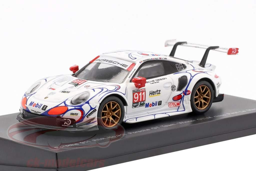 Porsche 911 RSR #911 Class Vencedor Petit LeMans 2018 Porsche GT Team 1:64 Spark