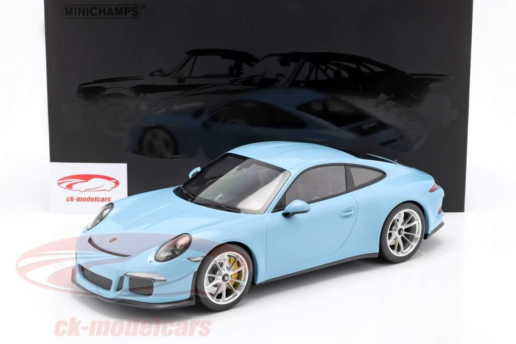 Porsche 911 (991) R Anno di costruzione 2016 gulf blu 1:12 Minichamps
