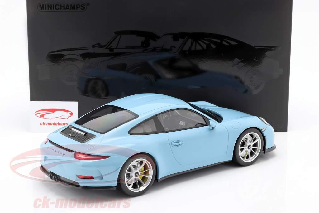 Porsche 911 (991) R Ano de construção 2016 gulf azul 1:12 Minichamps