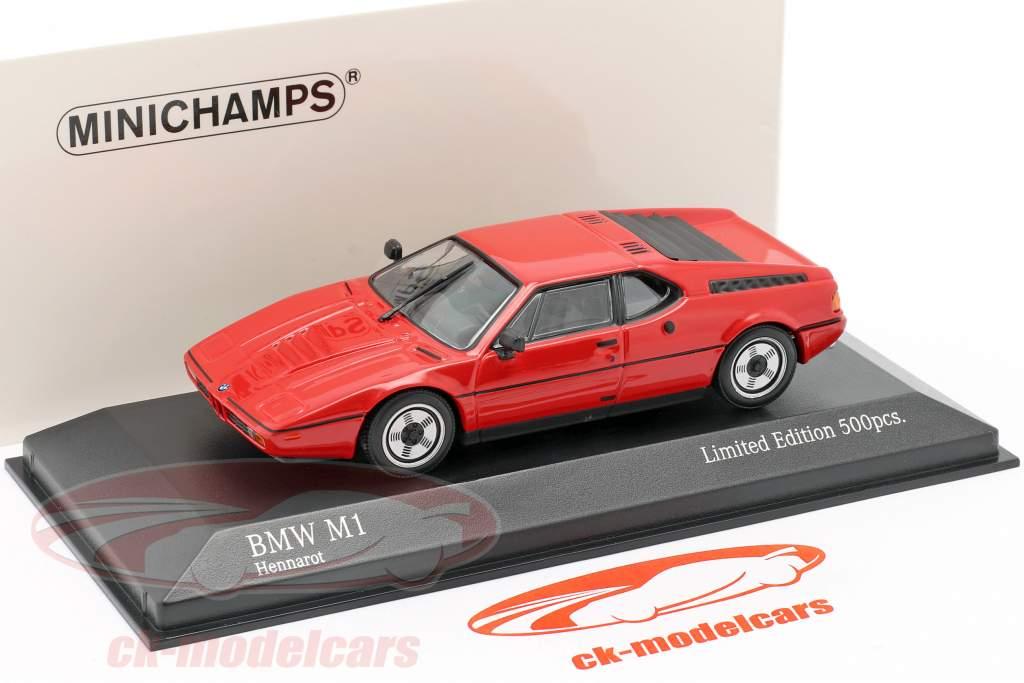 BMW M1 (E26) Baujahr 1980 henna rot 1:43 Minichamps