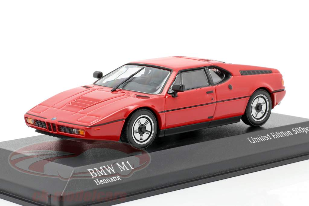 BMW M1 (E26) Byggeår 1980 henna rød 1:43 Minichamps
