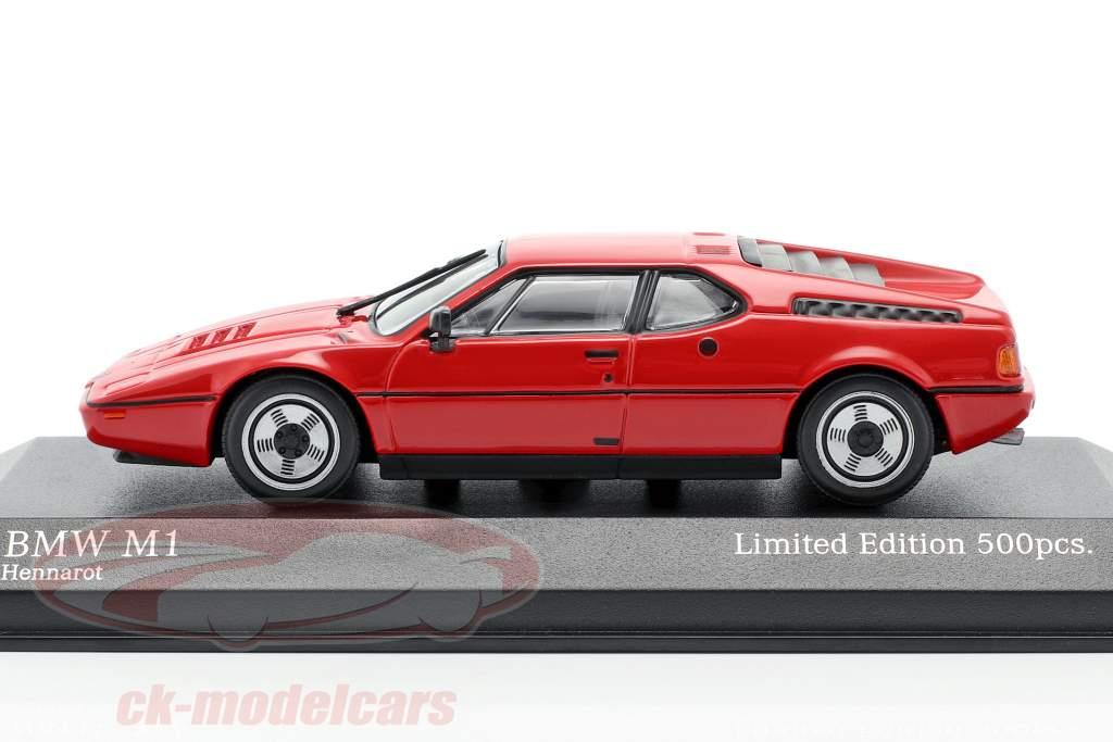 BMW M1 (E26) Ano de construção 1980 hena vermelho 1:43 Minichamps