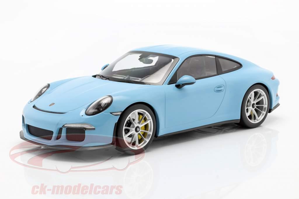 Porsche 911 (991) R Año de construcción 2016 gulf azul 1:12 Minichamps