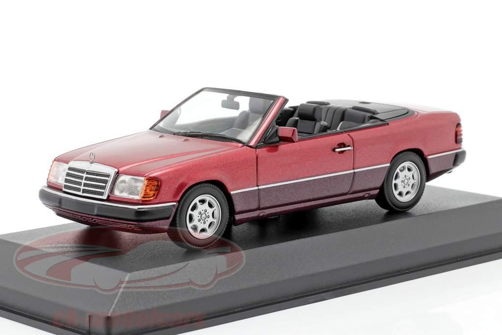 Mercedes-Benz 300 CE-24 cabriolet (A124) 1991 scuro rosso metallico 1:43 Minichamps