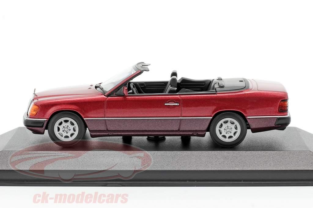 Mercedes-Benz 300 CE-24 Cabriolet (A124) 1991 dunkelrot metallic 1:43 Minichamps