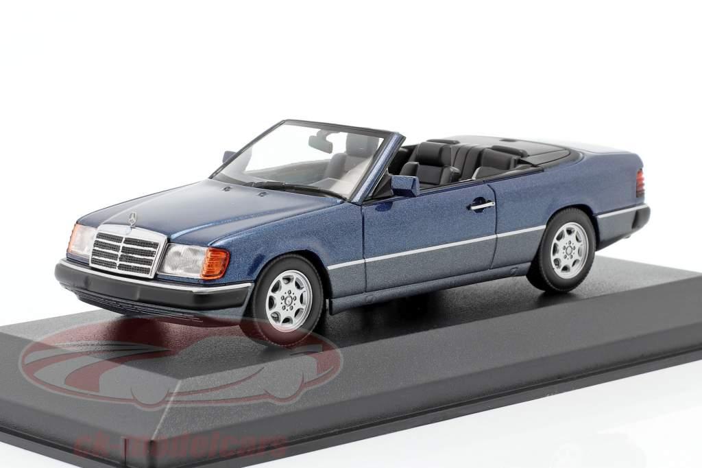 Mercedes-Benz 300 CE-24 Descapotable (A124) 1991 azul metálico 1:43 Minichamps