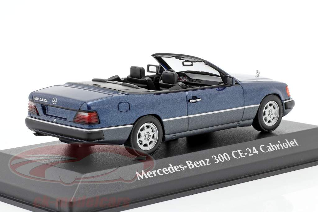 Mercedes-Benz 300 CE-24 cabriolet (A124) 1991 blu metallico 1:43 Minichamps