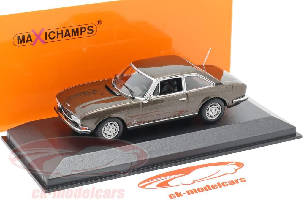 Peugeot 504 Coupe Byggeår 1976 brun metallisk 1:43 Minichamps