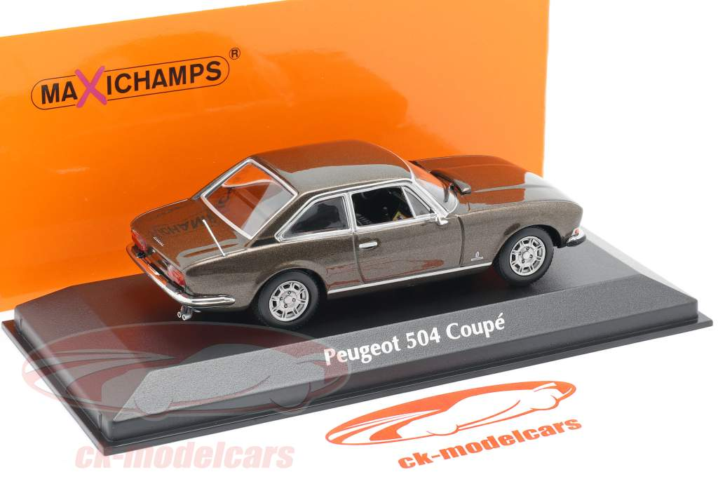 Peugeot 504 Coupe Año de construcción 1976 marrón metálico 1:43 Minichamps