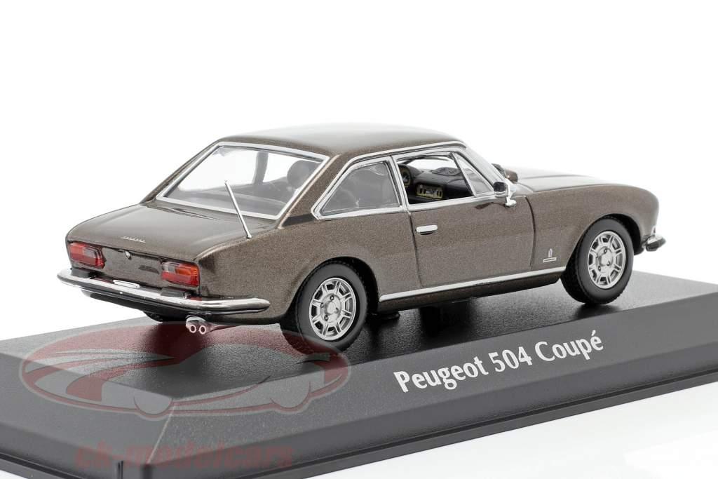 Peugeot 504 Coupe Année de construction 1976 brun métallique 1:43 Minichamps