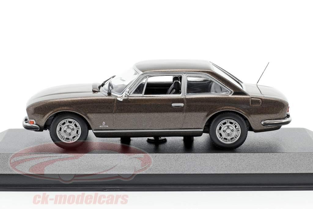 Peugeot 504 Coupe Bouwjaar 1976 bruin metallic 1:43 Minichamps