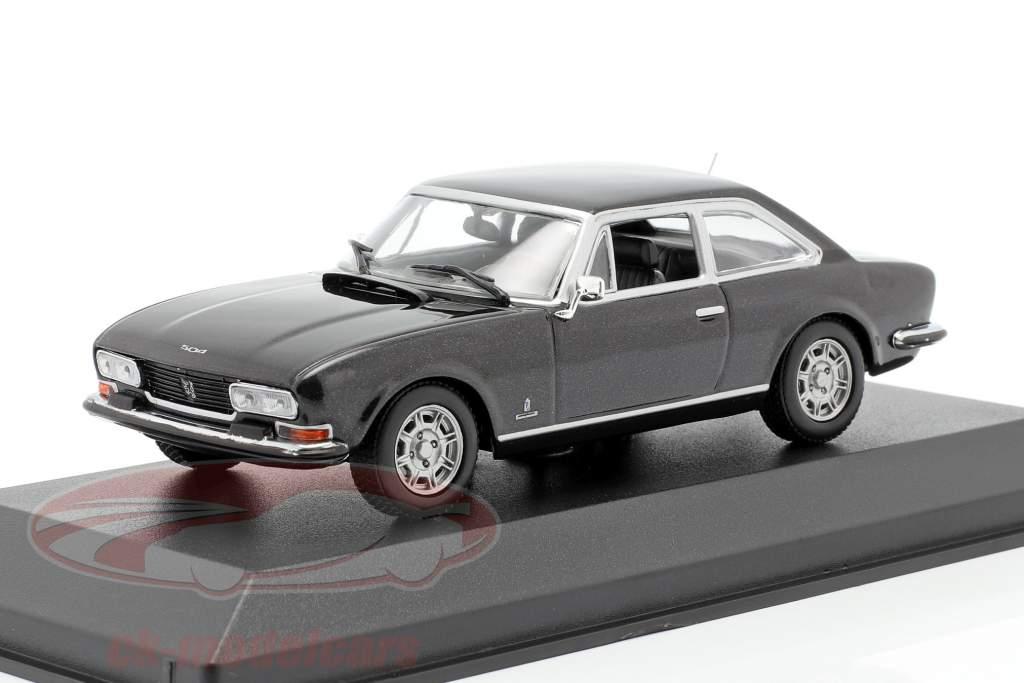 Peugeot 504 Coupe Año de construcción 1976 gris oscuro metálico 1:43 Minichamps