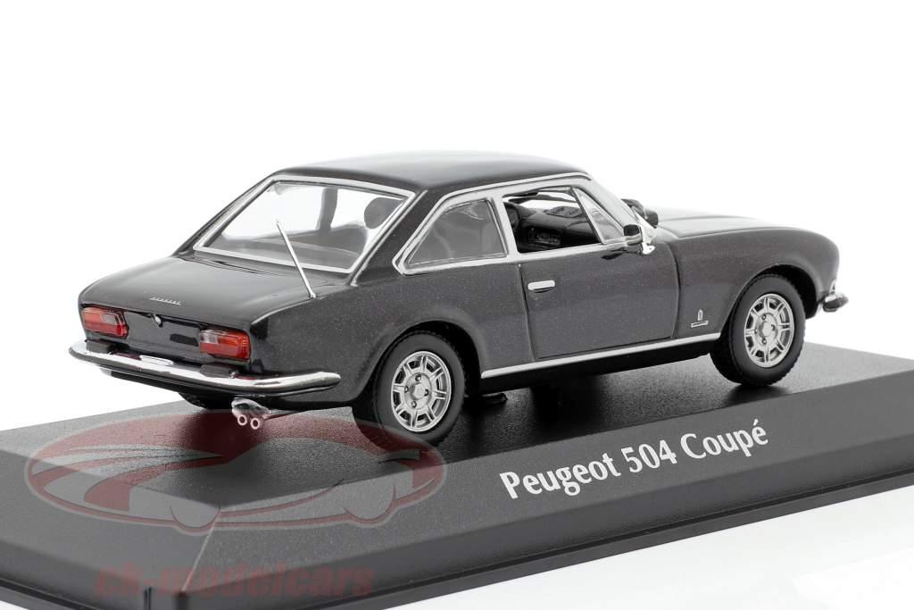 Peugeot 504 Coupe Ano de construção 1976 cinza escuro metálico 1:43 Minichamps
