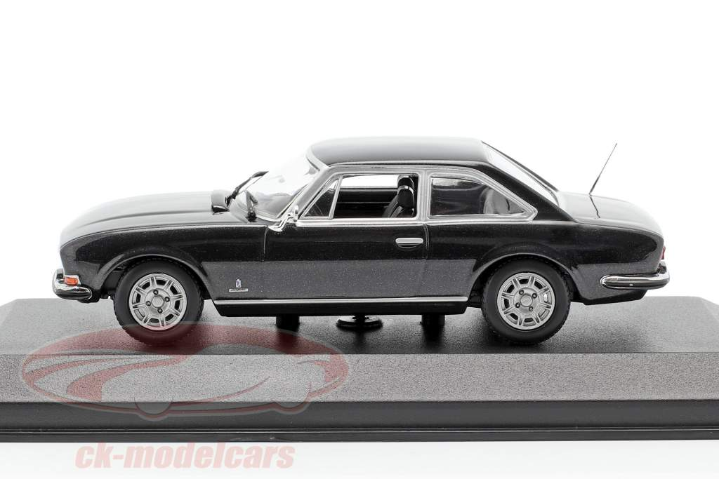 Peugeot 504 Coupe Anno di costruzione 1976 grigio scuro metallico 1:43 Minichamps