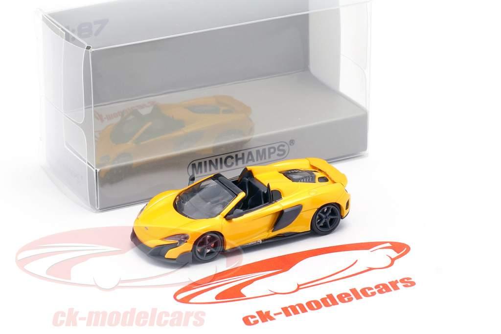 McLaren 675LT Spider Año de construcción 2016 volcán amarillo 1:87 Minichamps