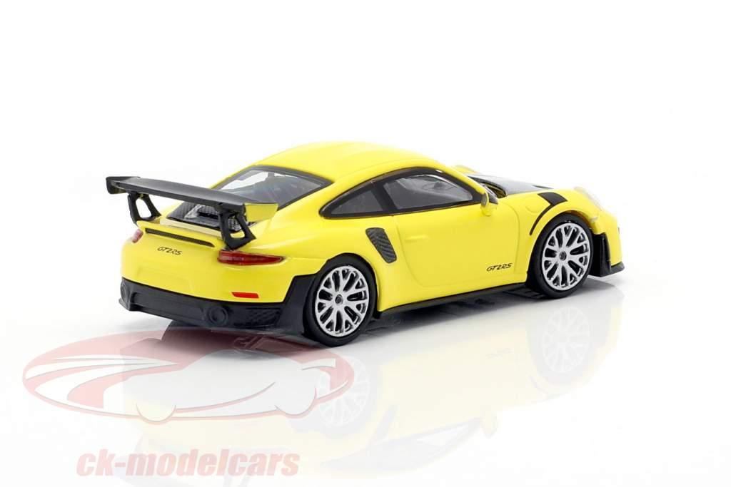 Porsche 911 GT2 RS Anno di costruzione 2018 giallo / carbossilico 1:87 Minichamps
