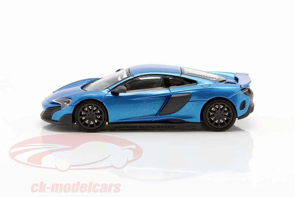 McLaren 675LT Coupe cerulean azul 1:87 Minichamps