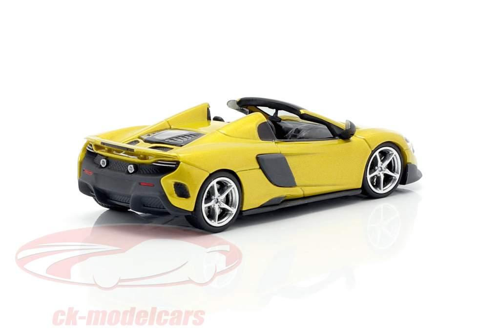 McLaren 675LT Spider Año de construcción 2016 solis amarillo 1:87 Minichamps