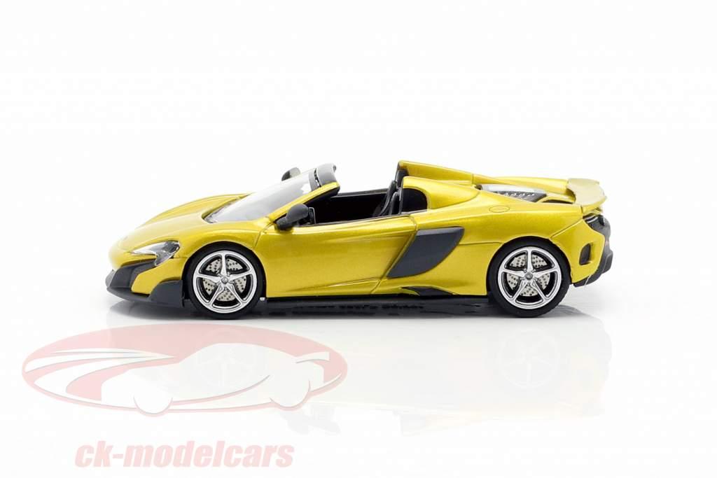 McLaren 675LT Spider Anno di costruzione 2016 solis giallo 1:87 Minichamps