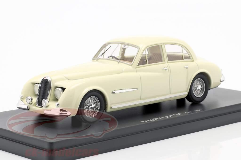 Bugatti Type 101 Lepoix Año de construcción 1951 crema blanco 1:43 AutoCult