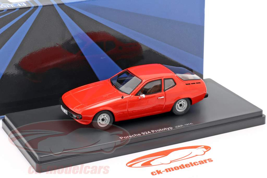 Porsche 924 prototype year 1974 red 1:43 AutoCult