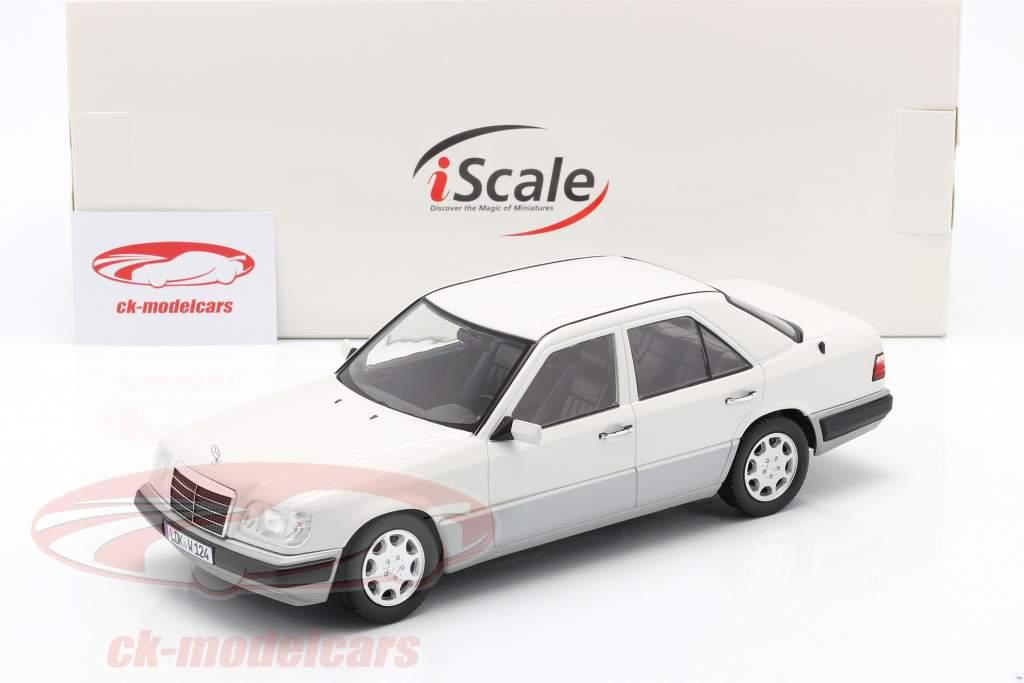 Mercedes-Benz Classe E (W124) Année de construction 1989 arctique blanc 1:18 iScale