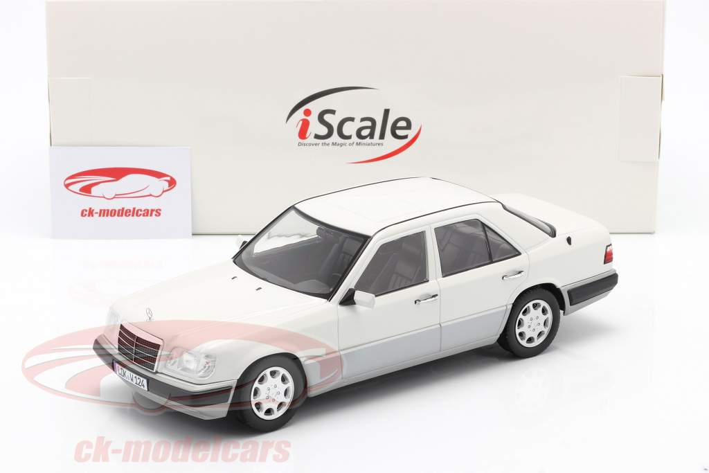 Mercedes-Benz E class (W124) year 1989 arctic white 1:18 iScale