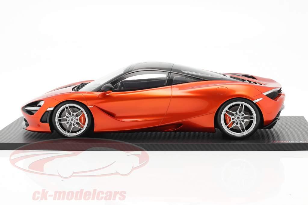 McLaren 720S Ano de construção 2017 açores laranja 1:12 TrueScale
