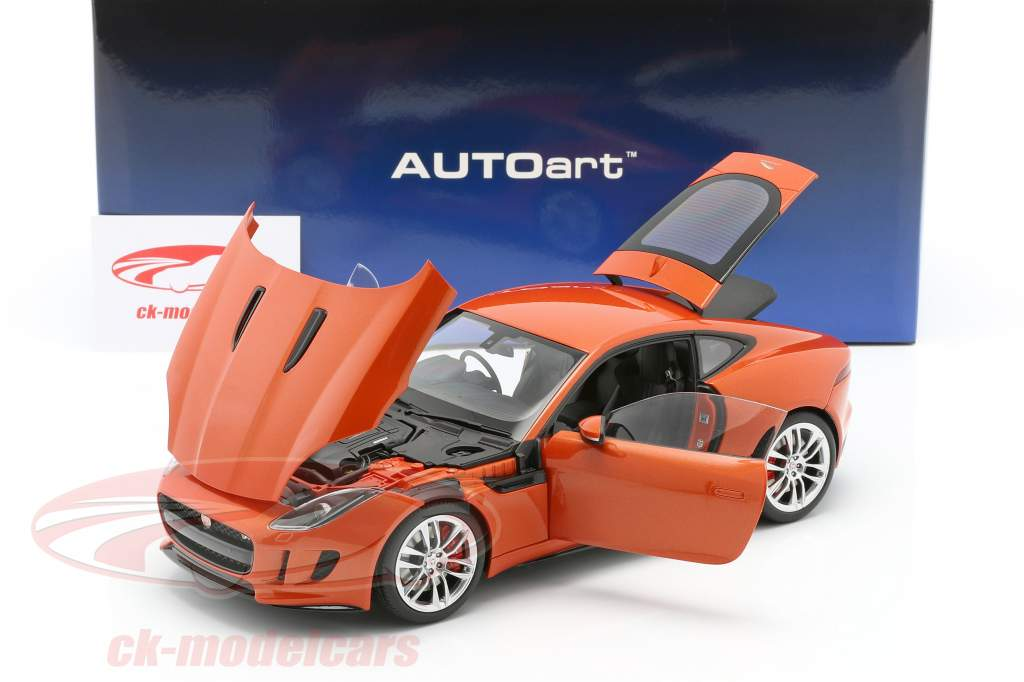 Jaguar F-Type R Coupe år 2015 appelsin metallic 1:18 AUTOart