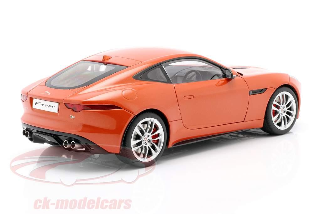 Jaguar F-Type R Coupe Baujahr 2015 orange metallic 1:18 AUTOart