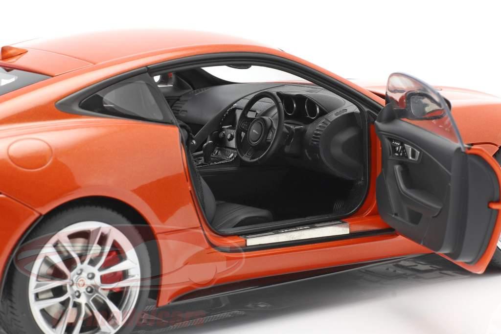 Jaguar F-Type R Coupe année 2015 orange métallique 1:18 AUTOart