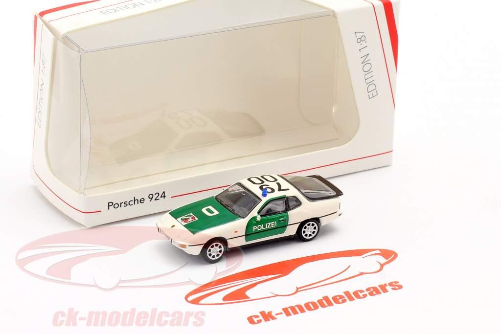 Porsche 924 Police vert / blanc 1:87 Schuco