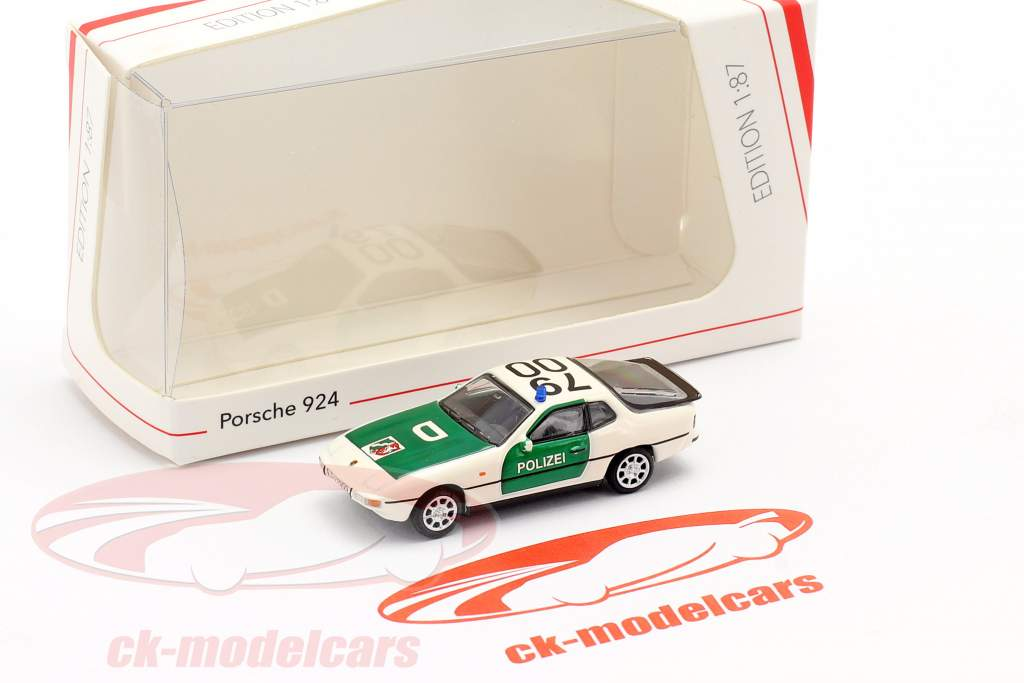 Porsche 924 polizia verde / bianco 1:87 Schuco