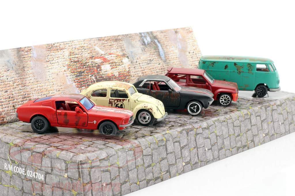5-Car set Vintage Rusty Set regalo 1:64 Majorette