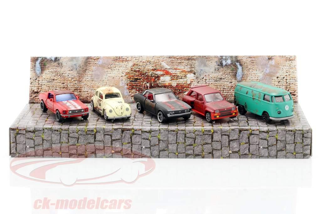 5-Car Set Vintage Rusty Geschenkset 1:64 Majorette