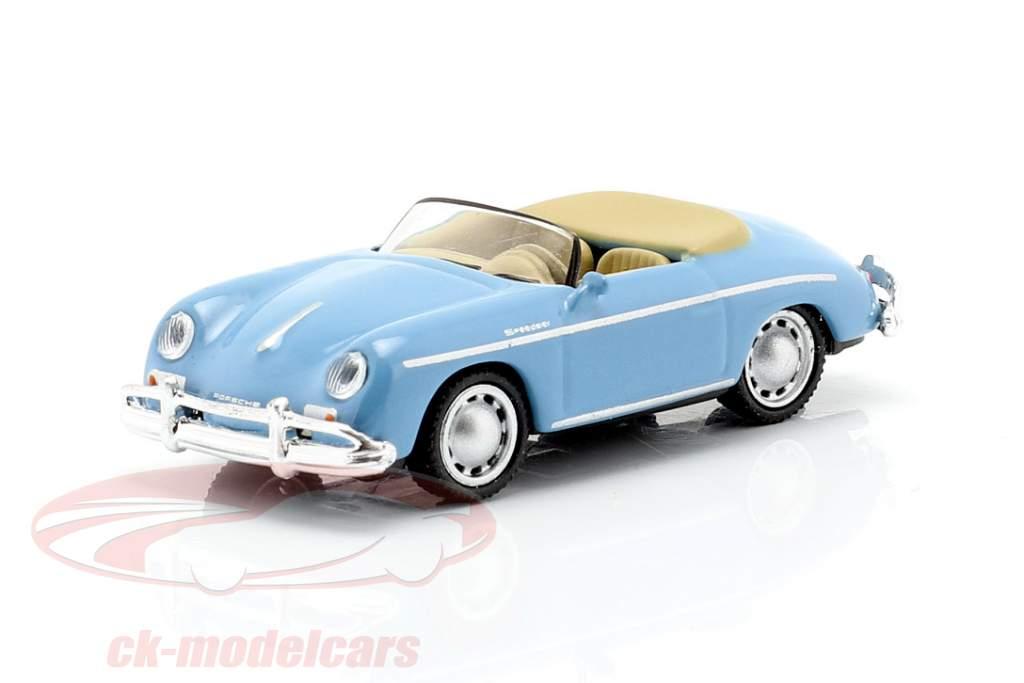 Porsche 356A Speedster licht blauw 1:87 Schuco