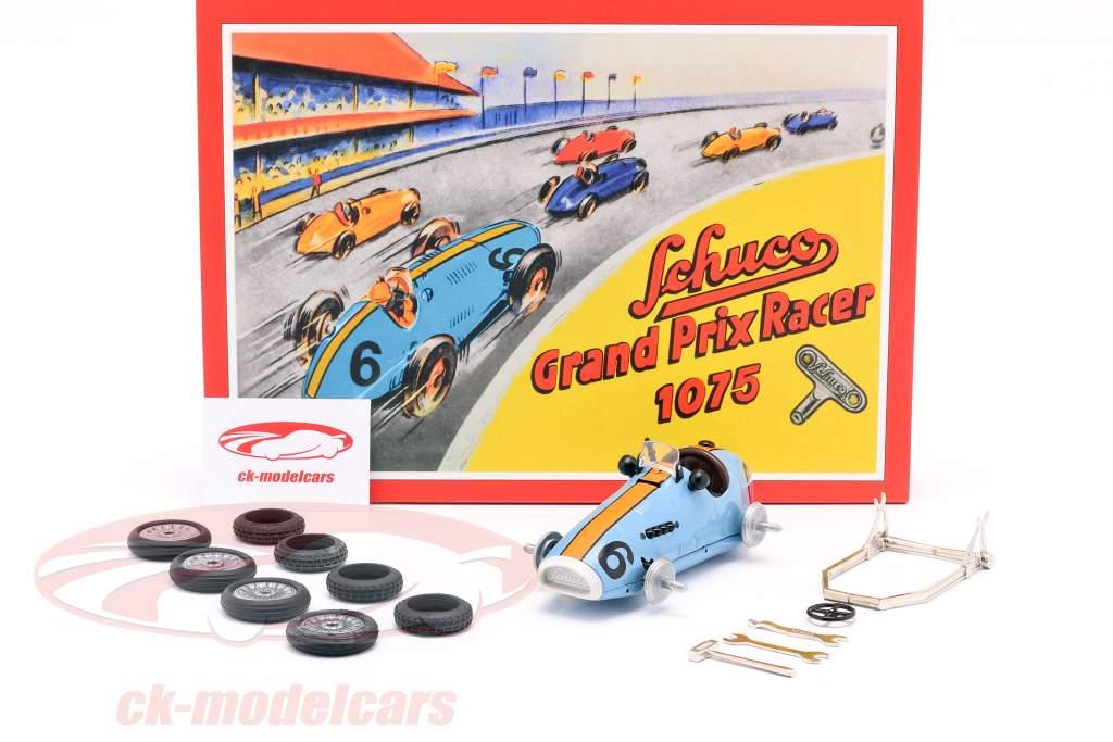 Grand Prix Racer #6 Scatola di montaggio gulf blu / arancione Schuco