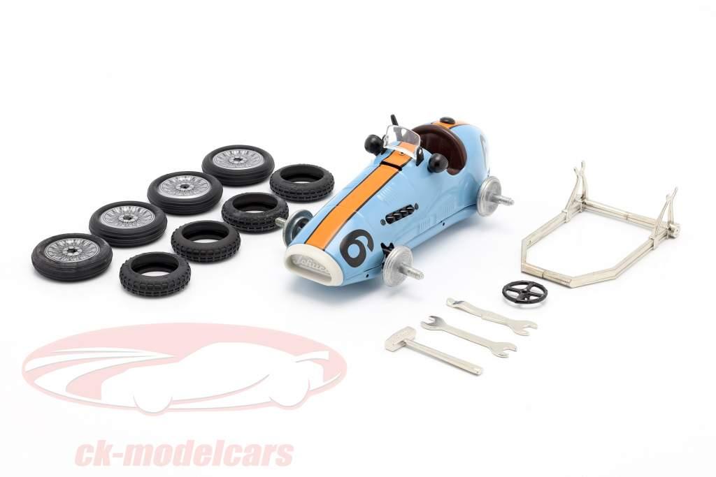 Grand Prix Racer #6 Boîte de montage gulf bleu / orange Schuco