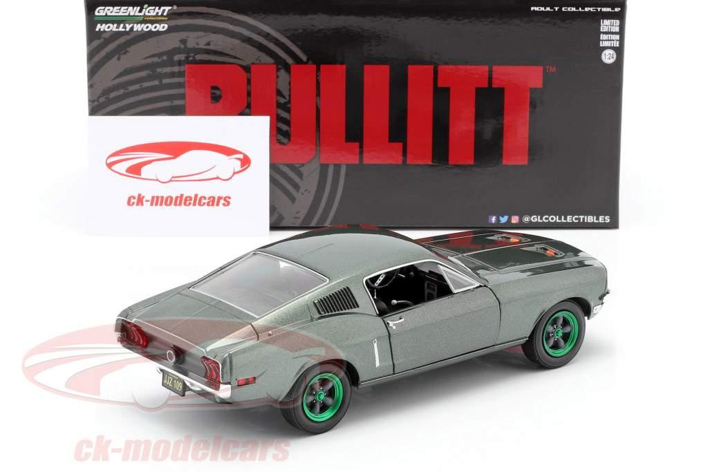 Ford Mustang GT Byggeår 1968 film Bullitt (1968) grøn fælge 1:24 Greenlight