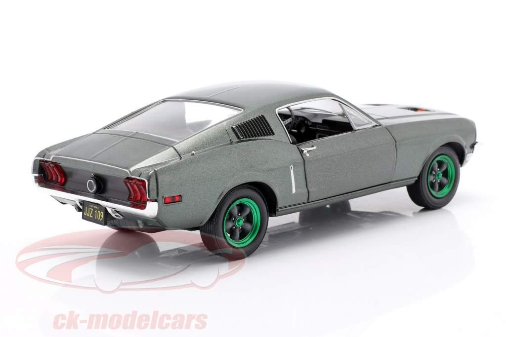 Ford Mustang GT Baujahr 1968 Film Bullitt (1968) grüne Felgen 1:24 Greenlight