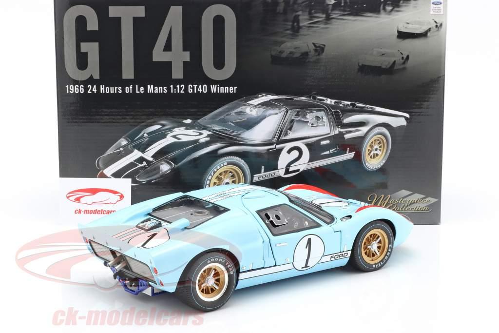 Ford GT40 MK II #1 2e 24h LeMans 1966 Miles, Hulme 1:12 GMP